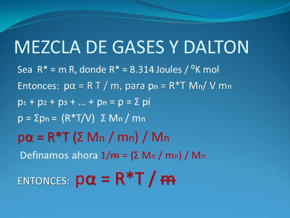 MEZCLA DE GASES Y DALTON