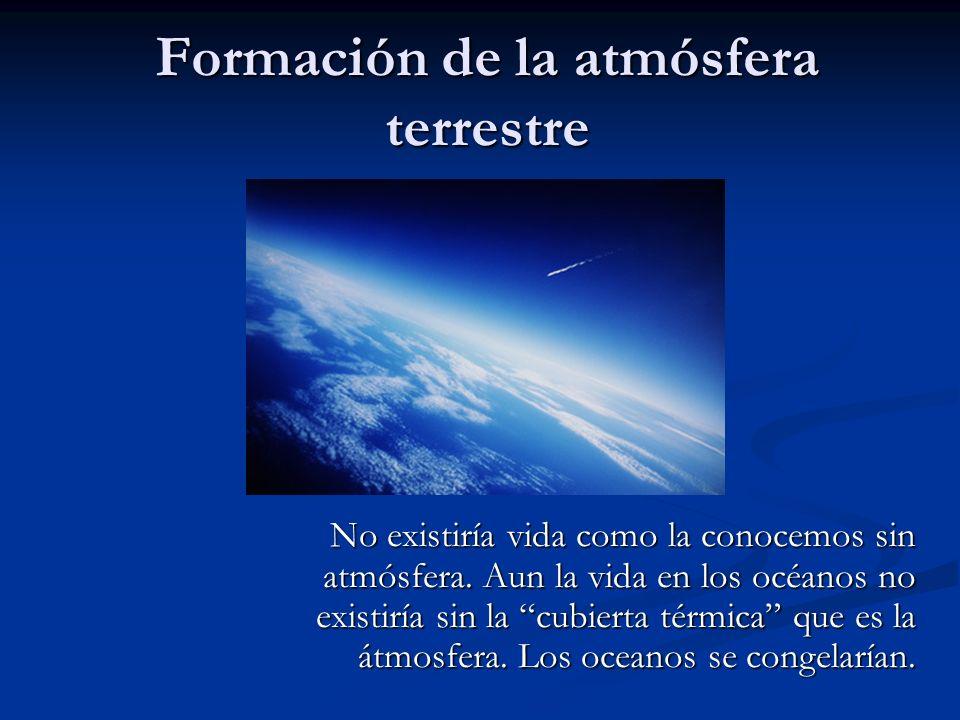 Formación de la atmósfera terrestre
