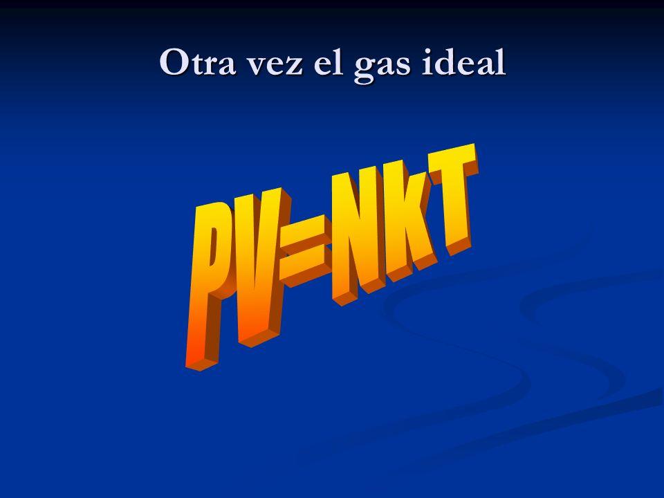 Otra vez el gas ideal PV=NkT