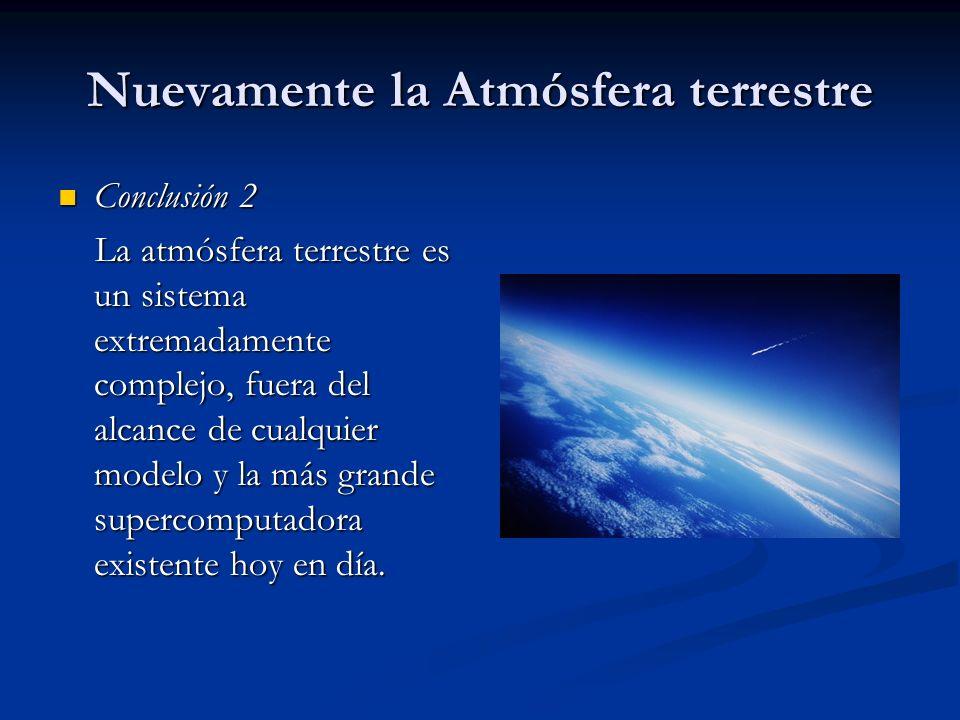 Nuevamente la Atmósfera terrestre