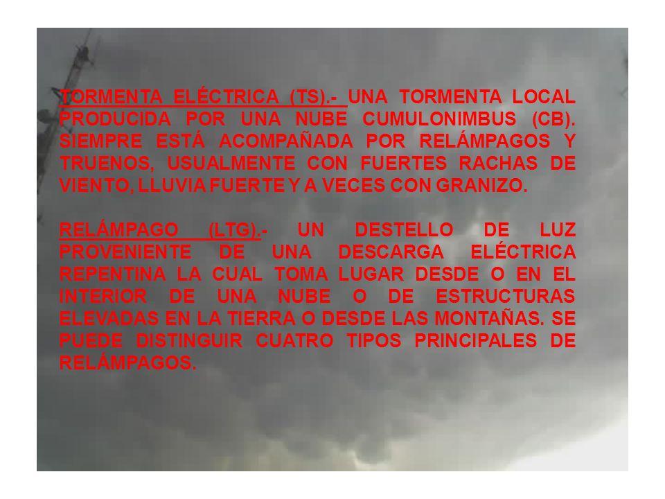 TORMENTA ELÉCTRICA (TS)