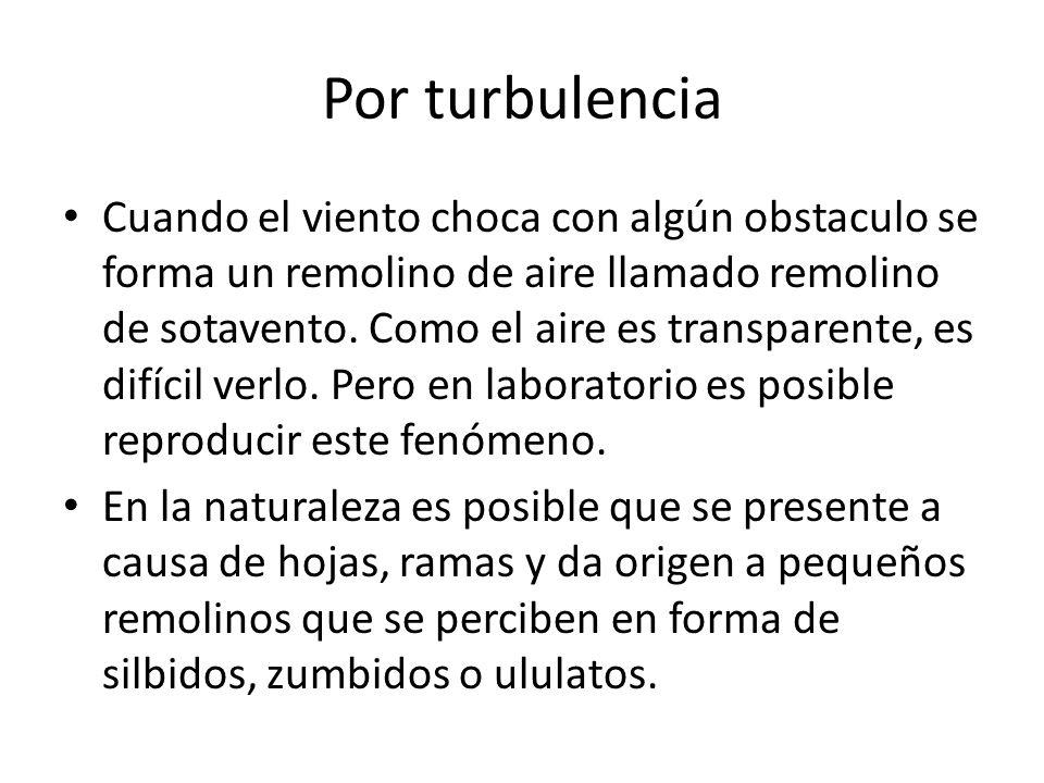 Por turbulencia