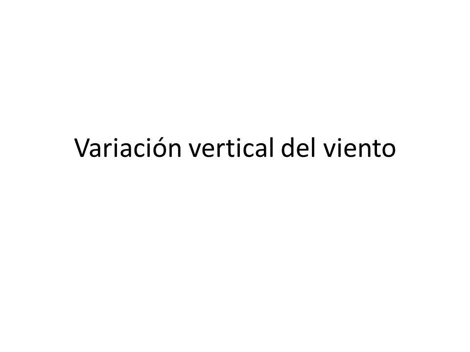 Variación vertical del viento