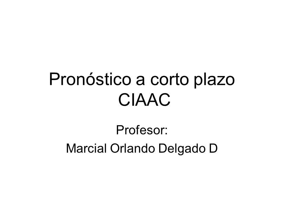 Pronóstico a corto plazo CIAAC