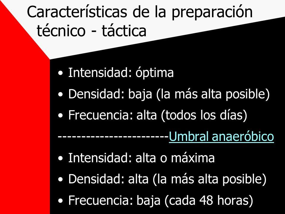 Características de la preparación técnico - táctica