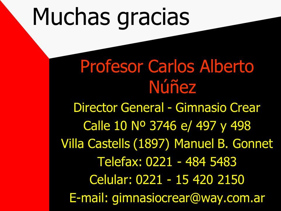Muchas gracias Profesor Carlos Alberto Núñez