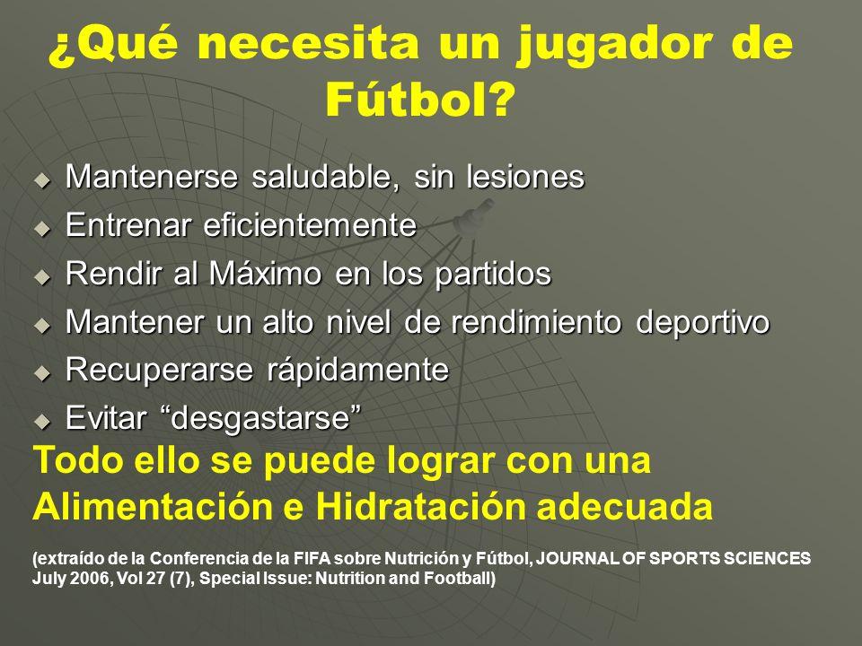¿Qué necesita un jugador de Fútbol