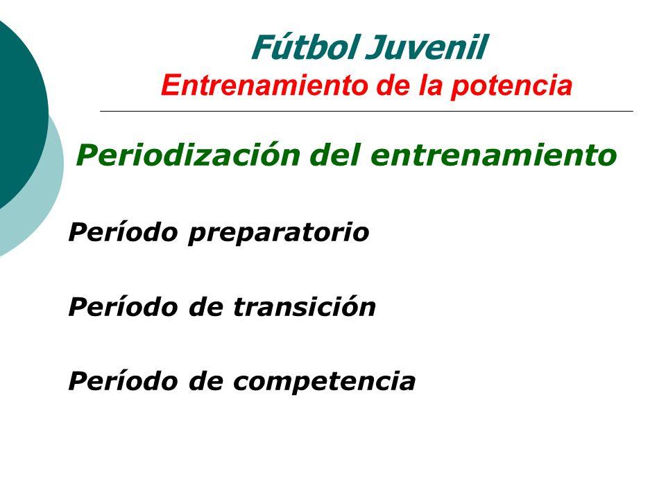 Fútbol Juvenil Entrenamiento de la potencia