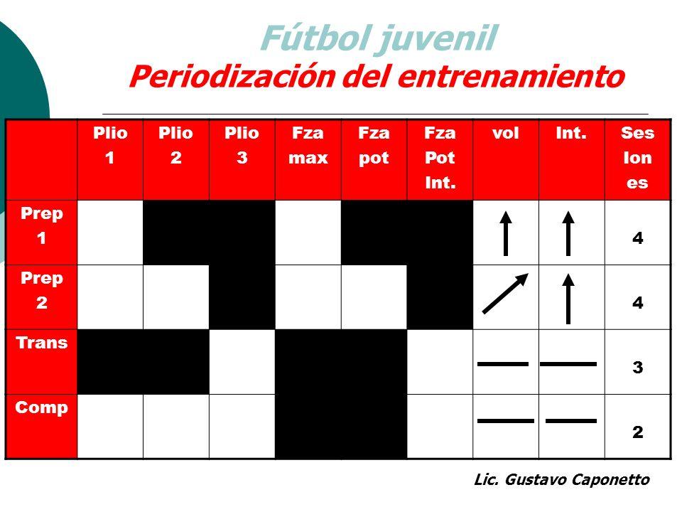 Fútbol juvenil Periodización del entrenamiento