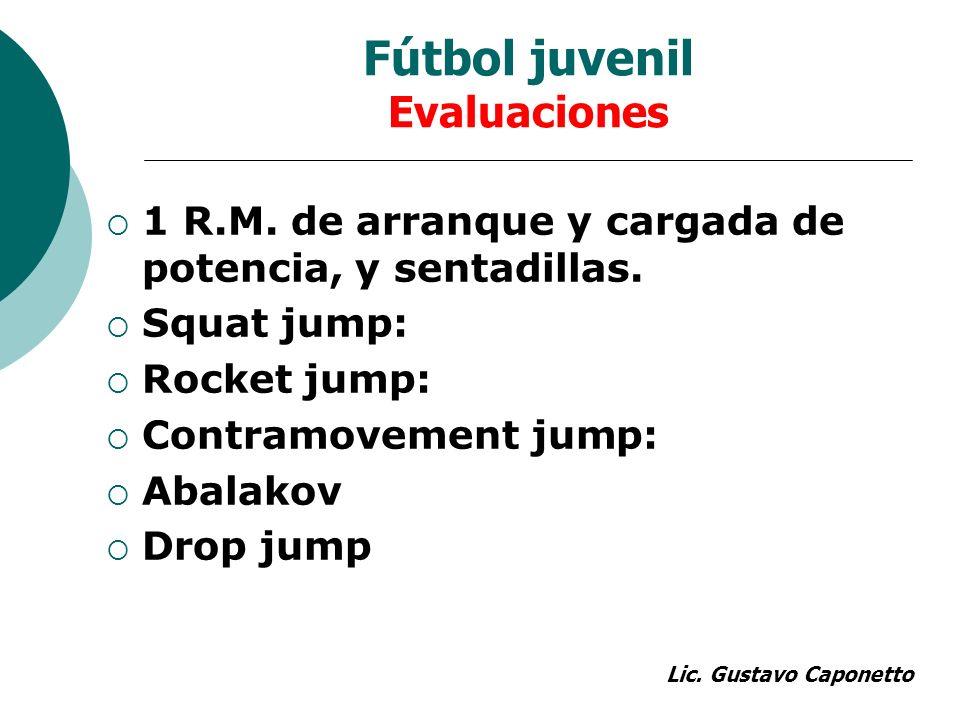 Fútbol juvenil Evaluaciones