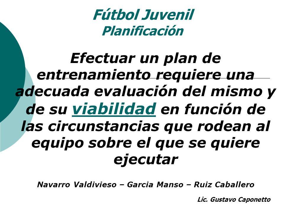 Fútbol Juvenil Planificación