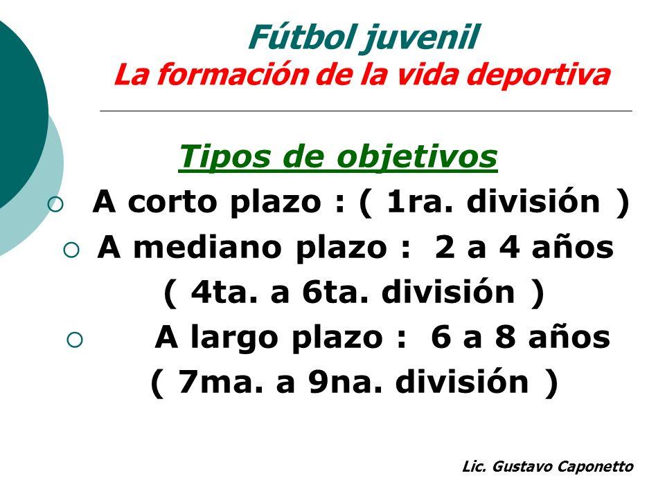 Fútbol juvenil La formación de la vida deportiva