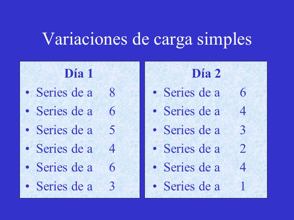 Variaciones de carga simples
