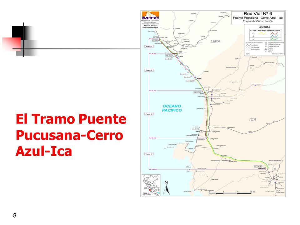 El Tramo Puente Pucusana-Cerro Azul-Ica