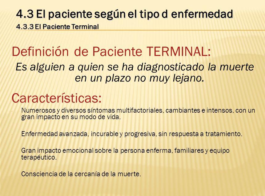 Definición de Paciente TERMINAL: