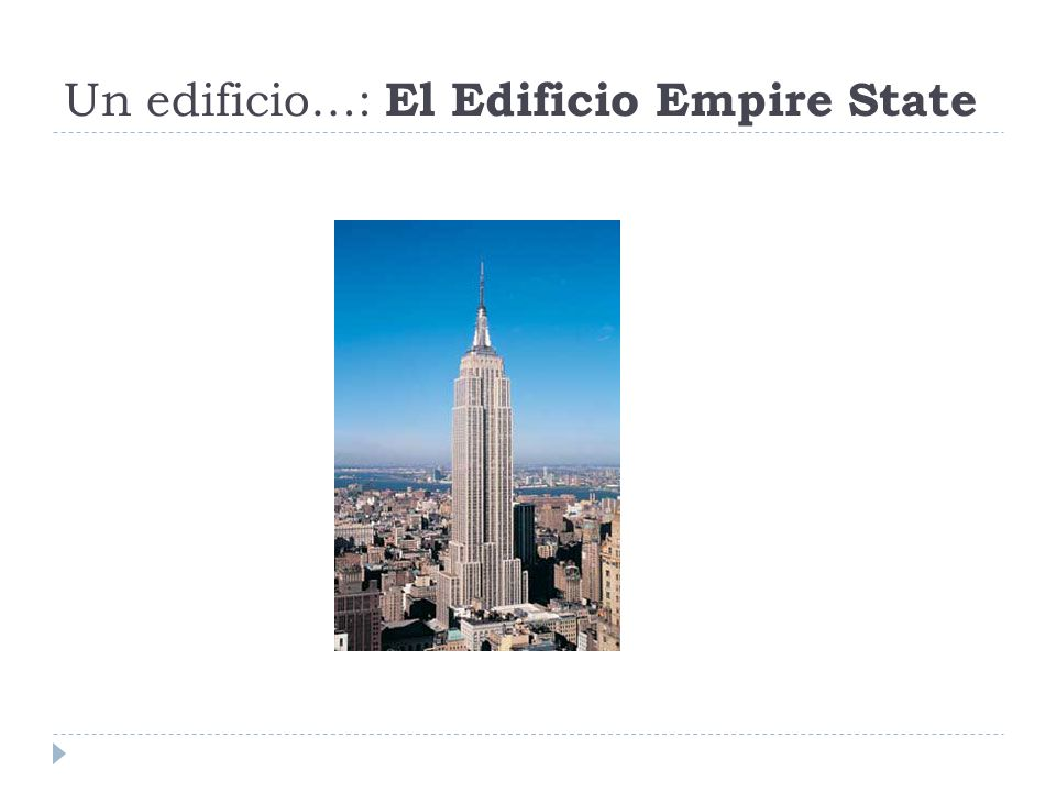 Un edificio…: El Edificio Empire State