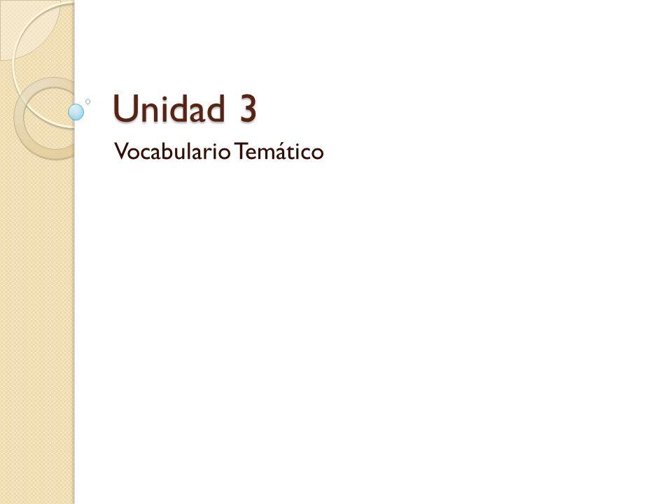 Unidad 3 Vocabulario Temático