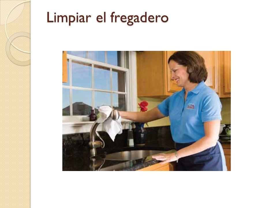 Limpiar el fregadero