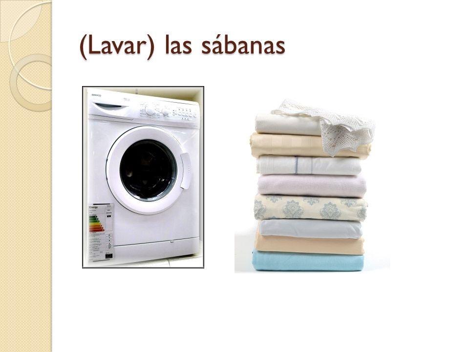 (Lavar) las sábanas