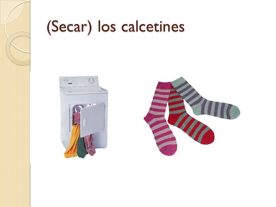 (Secar) los calcetines