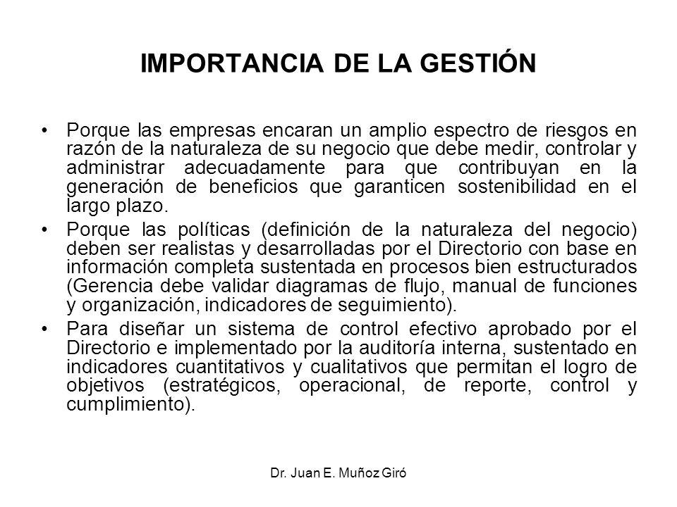 IMPORTANCIA DE LA GESTIÓN