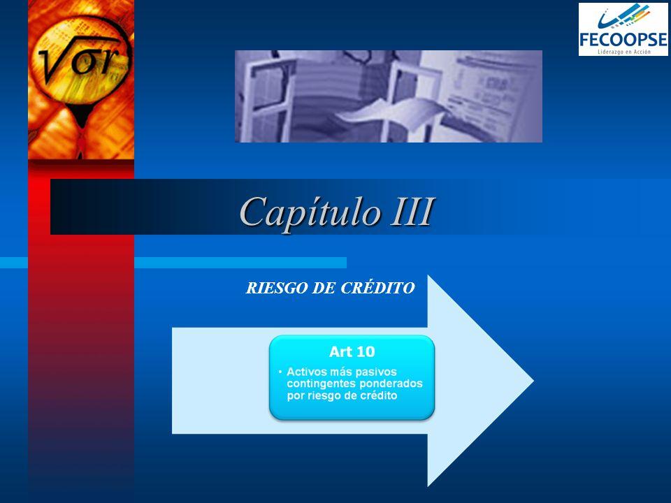 Capítulo III RIESGO DE CRÉDITO