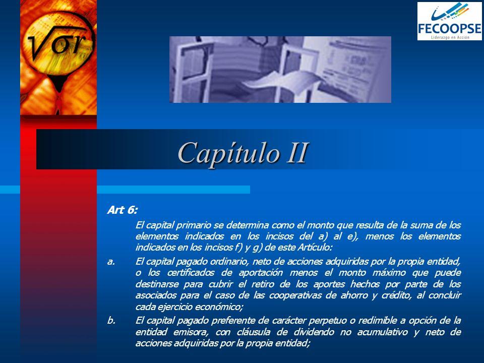 Capítulo IIArt 6: