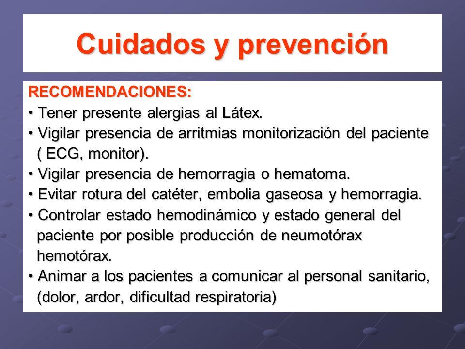 Cuidados y prevención RECOMENDACIONES:
