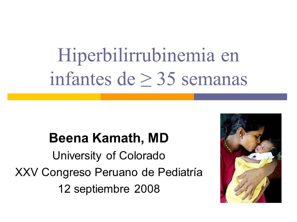 Hiperbilirrubinemia en infantes de ≥ 35 semanas