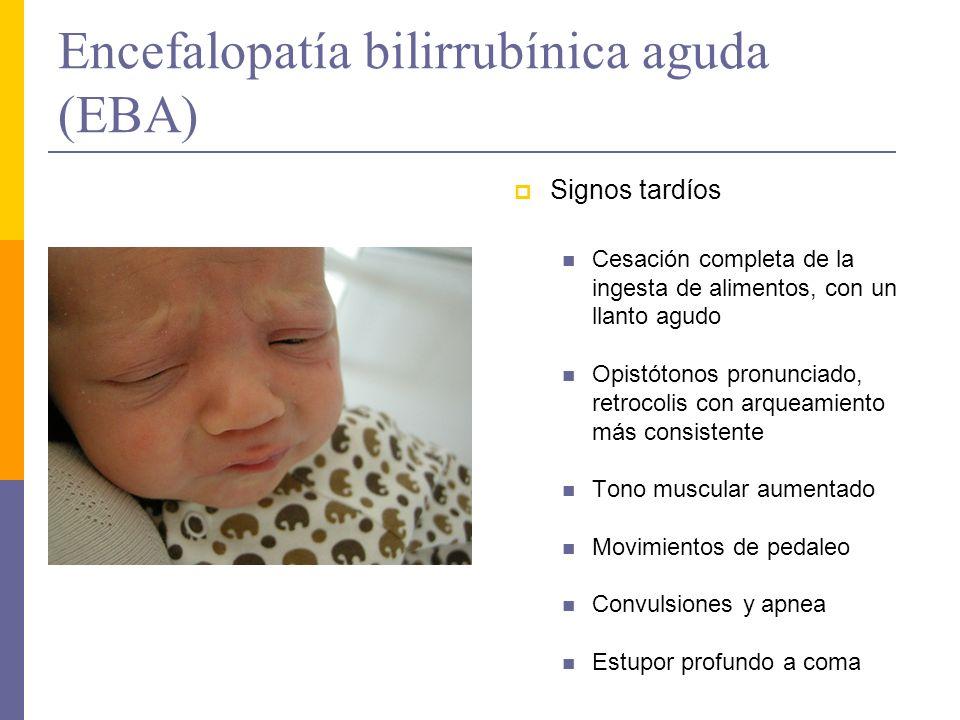 Encefalopatía bilirrubínica aguda (EBA)