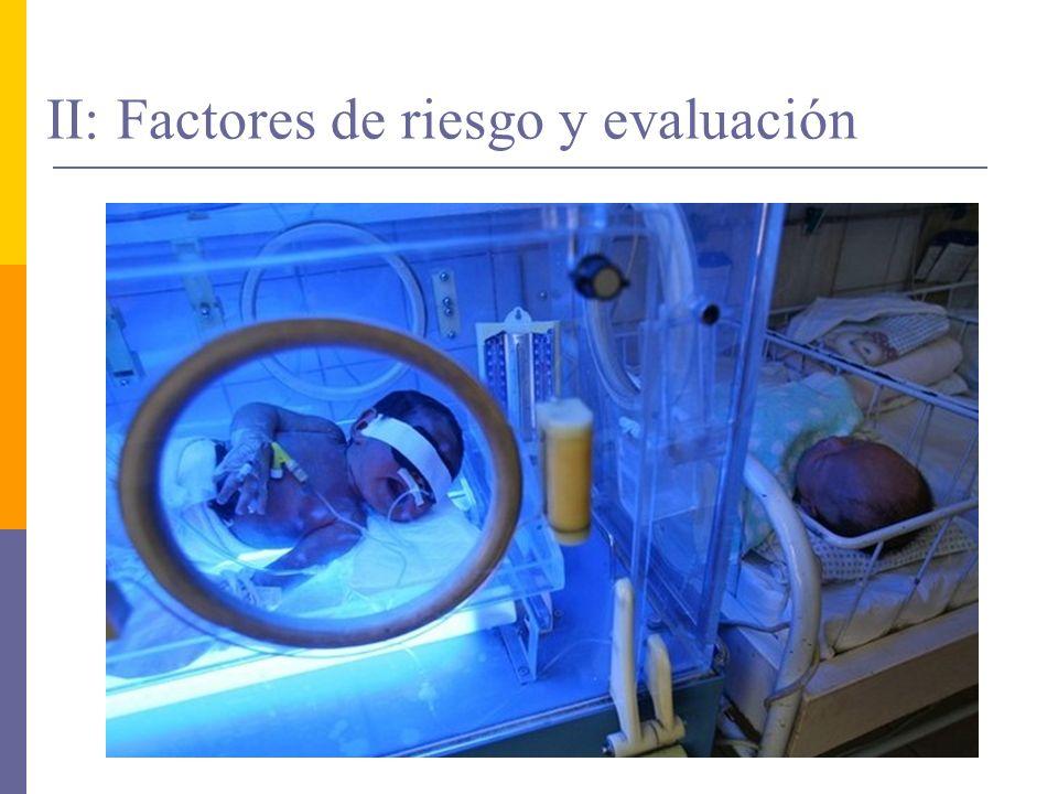 II: Factores de riesgo y evaluación