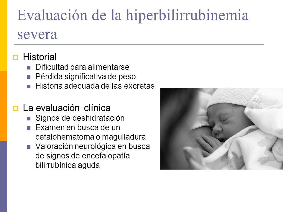 Evaluación de la hiperbilirrubinemia severa