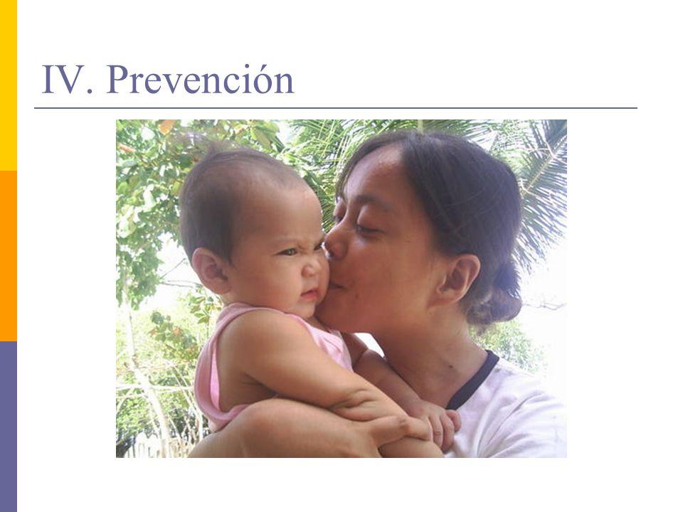 IV. Prevención
