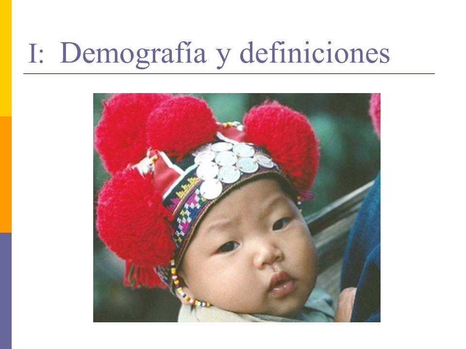 I: Demografía y definiciones