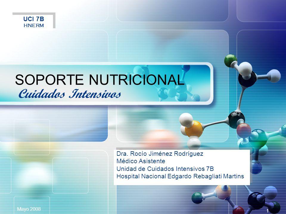 SOPORTE NUTRICIONAL Cuidados Intensivos UCI 7B