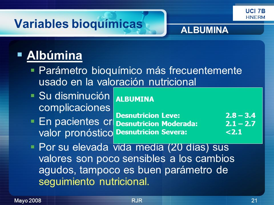 Variables bioquímicas