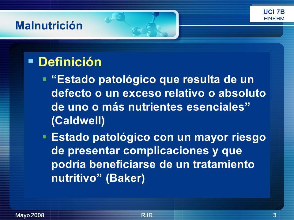Definición Malnutrición