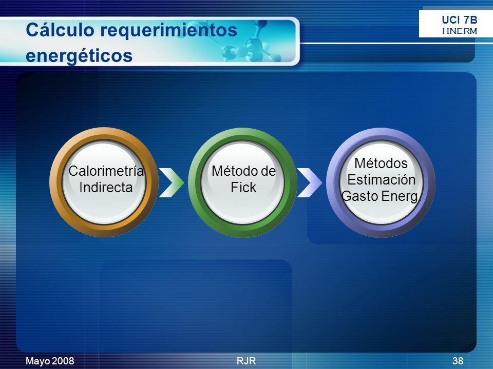 Cálculo requerimientos energéticos