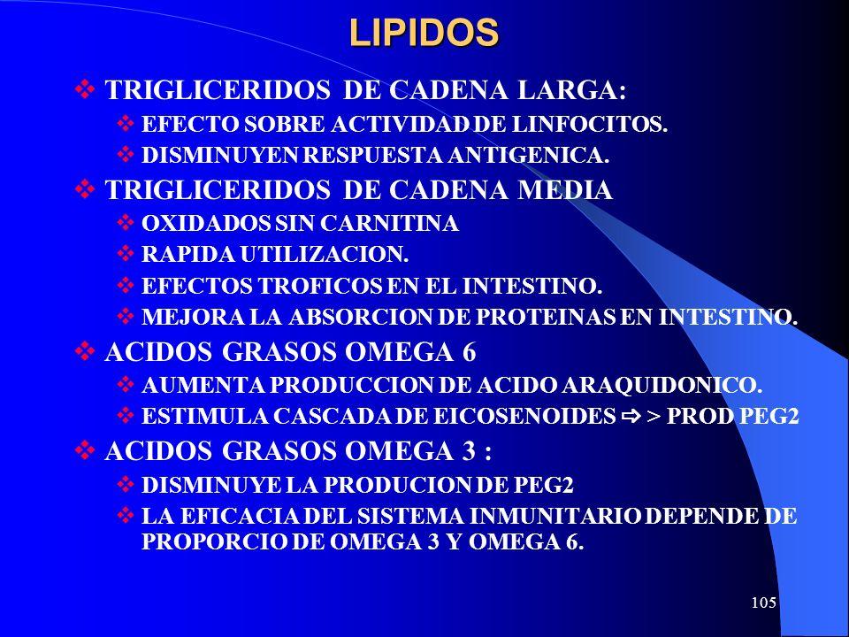 LIPIDOS TRIGLICERIDOS DE CADENA LARGA: TRIGLICERIDOS DE CADENA MEDIA