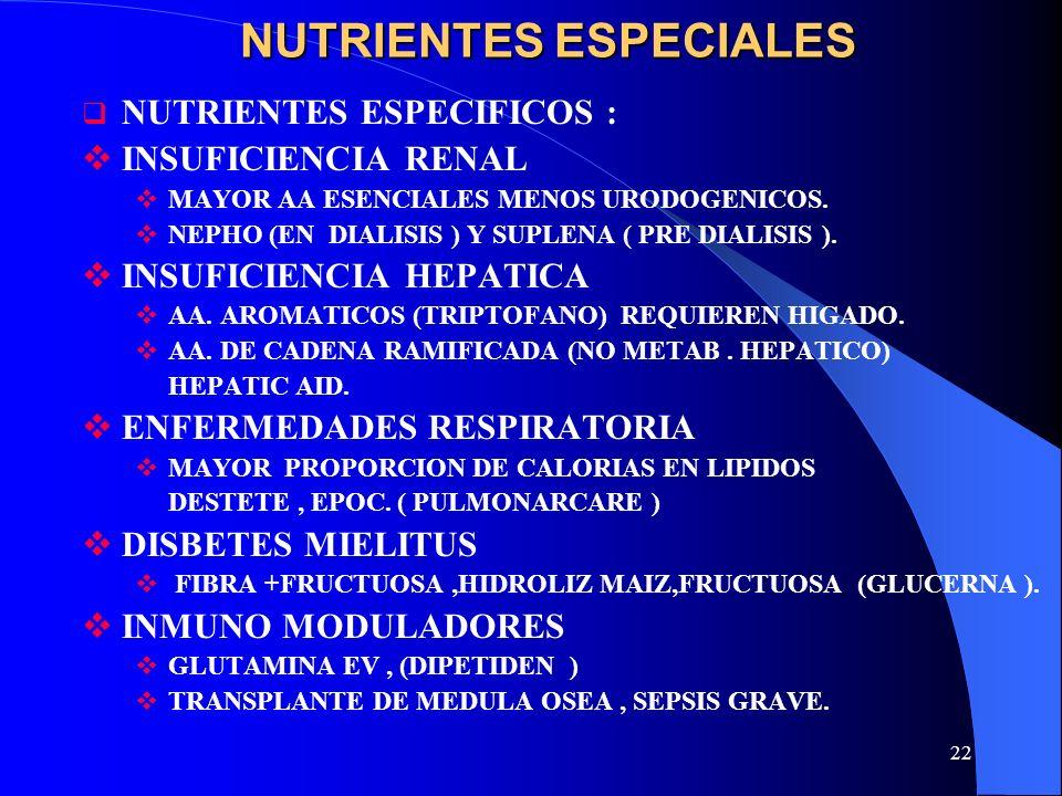 NUTRIENTES ESPECIALES