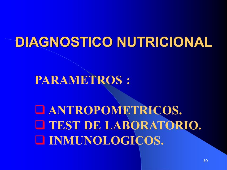DIAGNOSTICO NUTRICIONAL