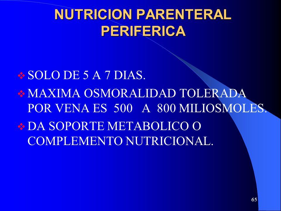 NUTRICION PARENTERAL PERIFERICA