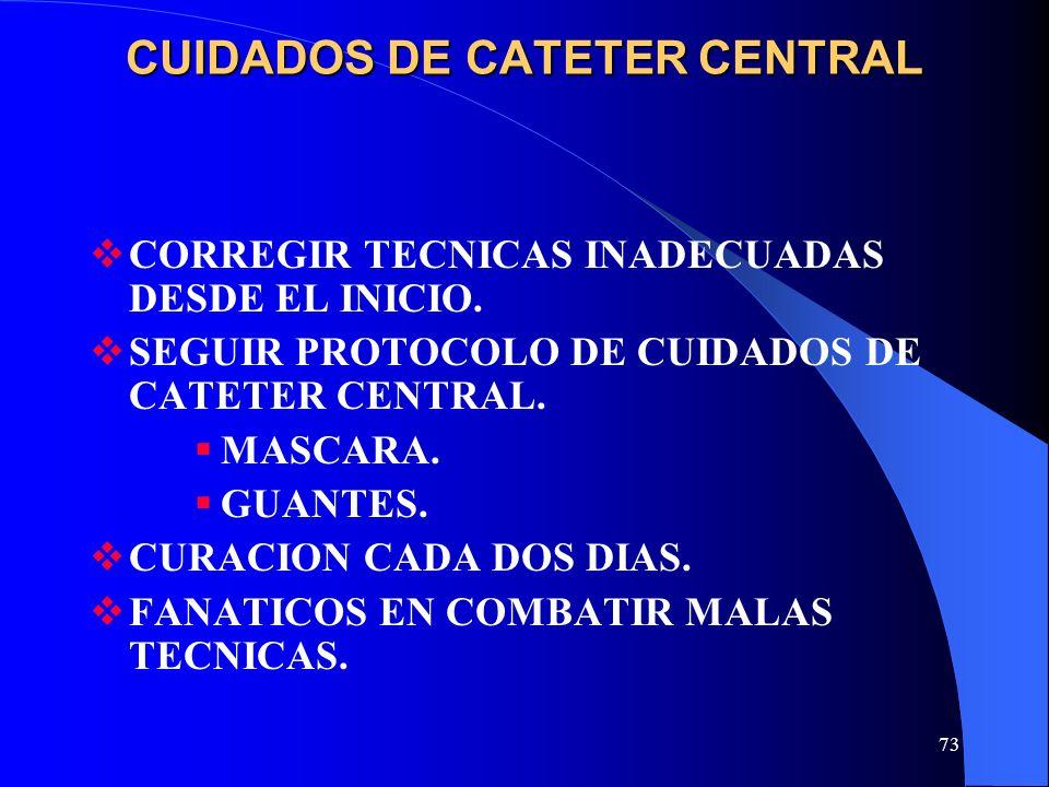 CUIDADOS DE CATETER CENTRAL