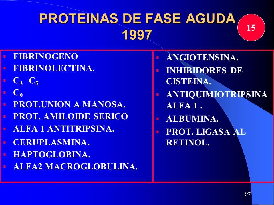 PROTEINAS DE FASE AGUDA 1997