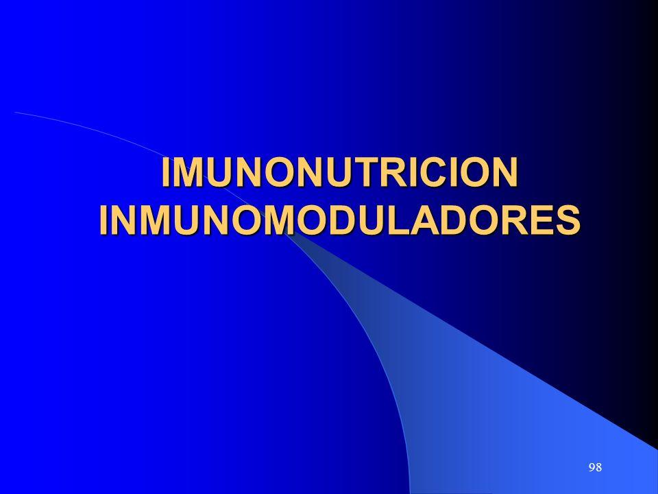 IMUNONUTRICION INMUNOMODULADORES