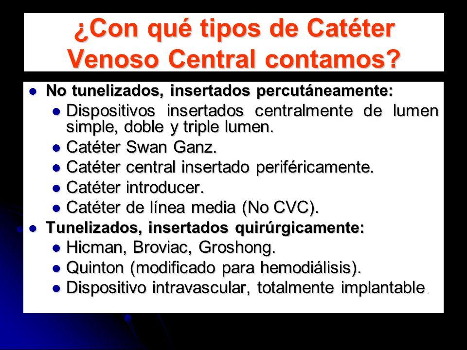 ¿Con qué tipos de Catéter Venoso Central contamos