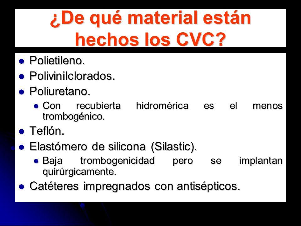 ¿De qué material están hechos los CVC