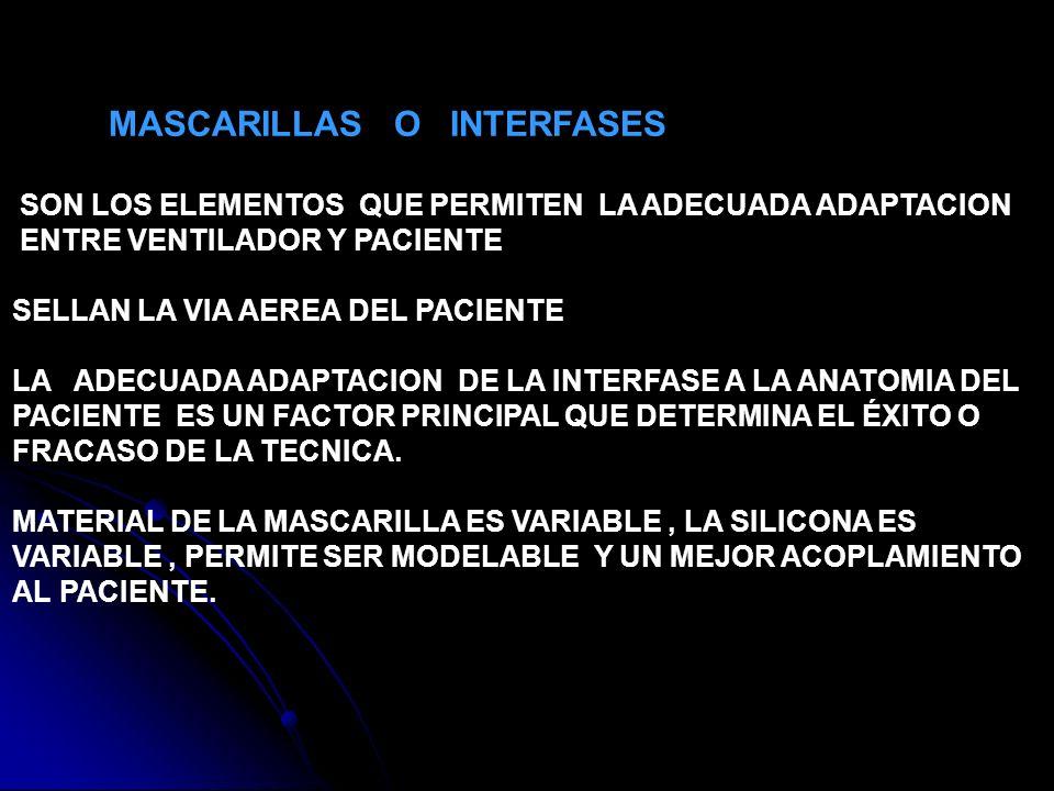 MASCARILLAS O INTERFASES