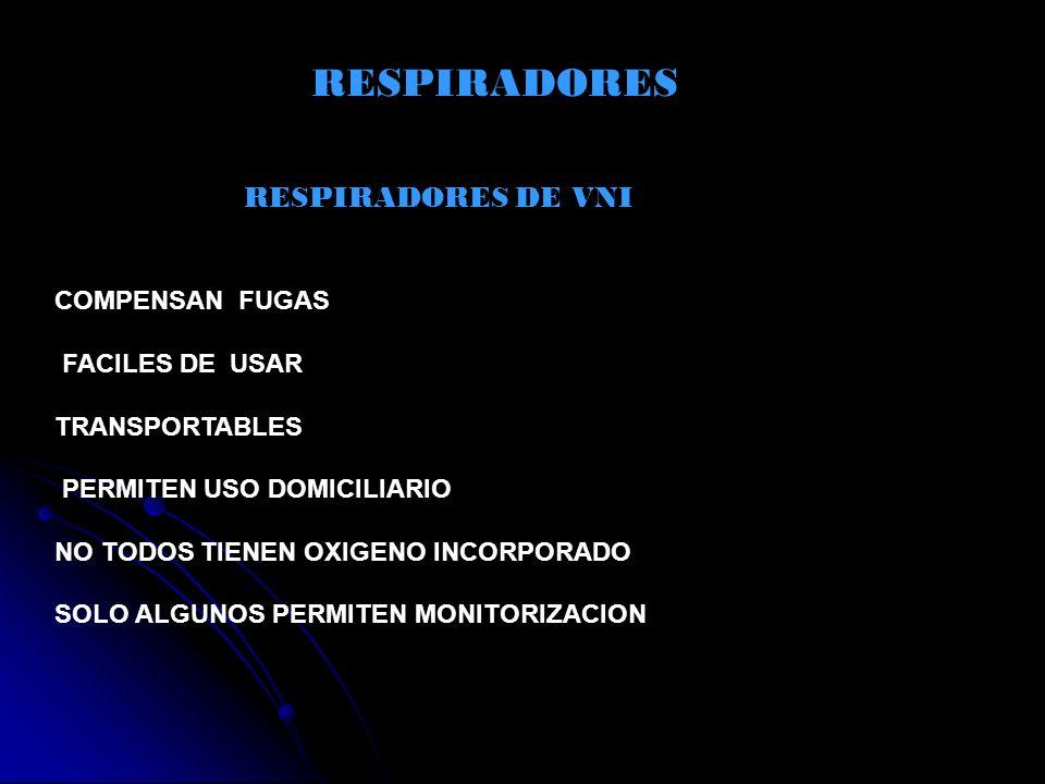 RESPIRADORES RESPIRADORES DE VNI COMPENSAN FUGAS FACILES DE USAR