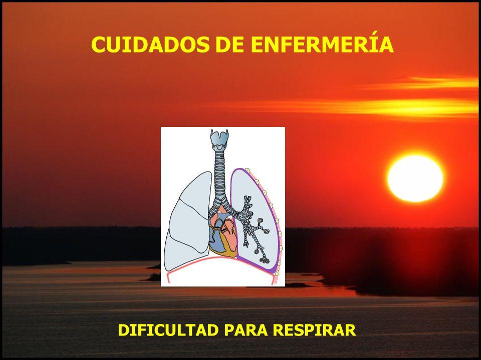 CUIDADOS DE ENFERMERÍA DIFICULTAD PARA RESPIRAR
